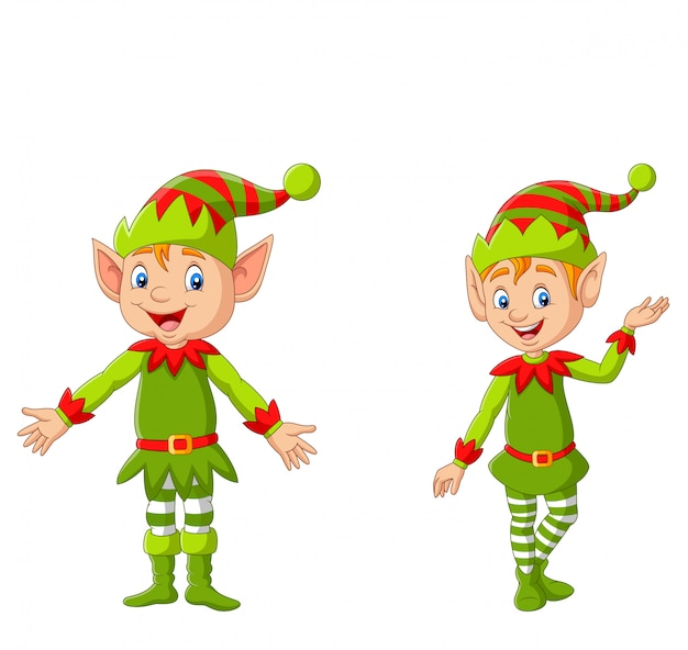 Elfo di natale felice dei cartoni animati