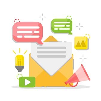Email e messaggistica. campagna di email marketing.