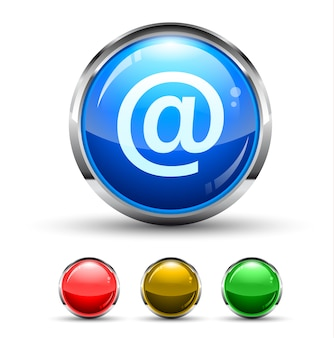 Email pulsante lucido cristal