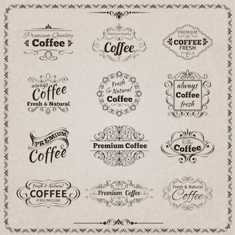 Emblema del caffè impostato