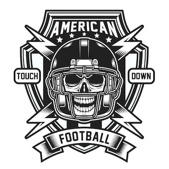 Emblema del cranio di football americano
