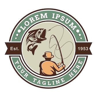 Emblema del logo di pesca