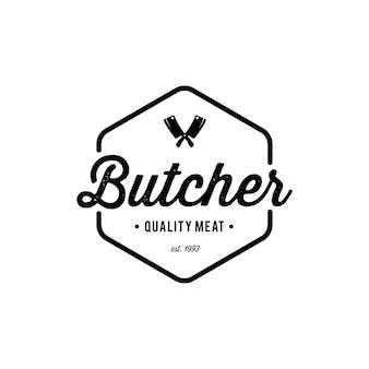 Emblema del negozio di macelleria.