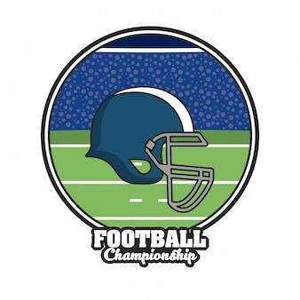 Emblema del torneo di calcio sport campionato