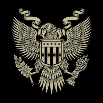 Emblema dell'aquila americana