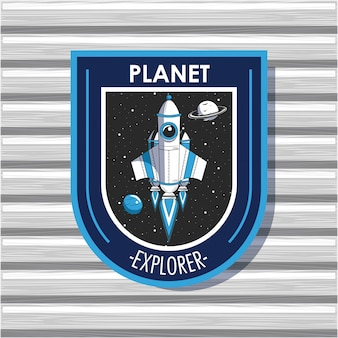 Emblema dell'emblema di space explorer