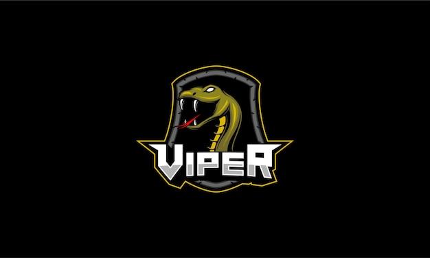 Emblema dell'illustrazione della mascotte della vipera