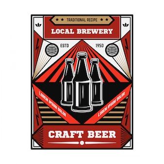 Emblema della birra vintage