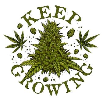 Emblema della cannabis