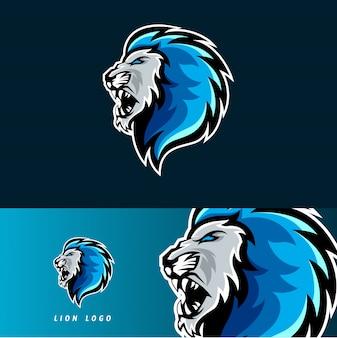 Emblema della mascotte di gioco del leone esport