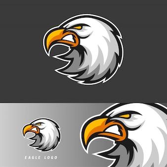 Emblema della mascotte di gioco di eagle esport