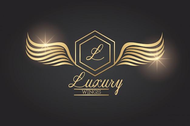 Emblema di ali di lusso