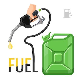 Emblema di concetto di rifornimento di carburante