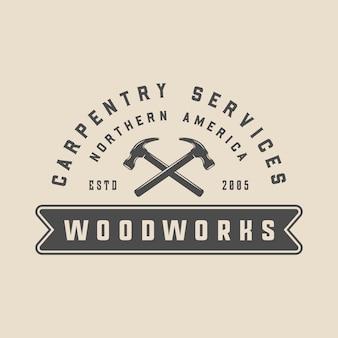 Emblema di falegnameria carpenteria