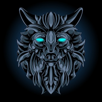 Emblema di ferro lupo