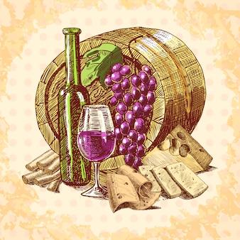 Emblema di formaggio di vino