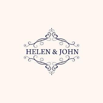 Emblema di invito a nozze
