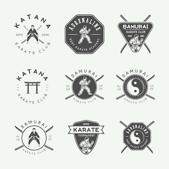 Emblema di karate, distintivo