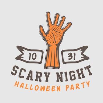 Emblema di logo setor di halloween