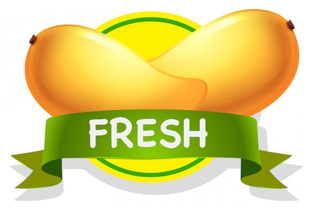Emblema di mango con wibbon