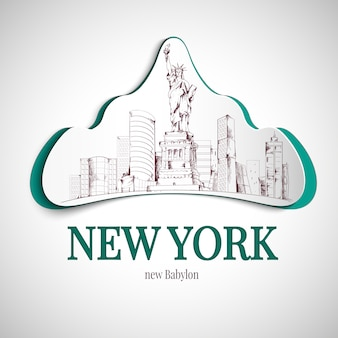 Emblema di new york city