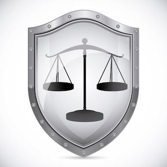 Emblema di scudo di giustizia