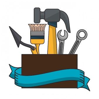 Emblema di strumenti di costruzione