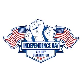 Emblema e simbolo per il giorno dell'indipendenza degli stati uniti