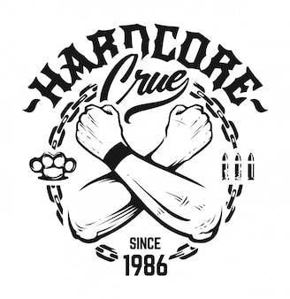 Emblema hardcore art