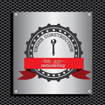 Emblema in costruzione