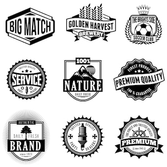 Emblema logo classico distintivi retrò