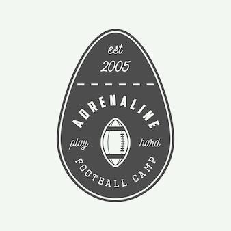 Emblema o logo di rugby.