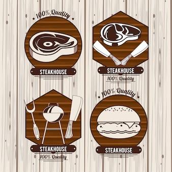 Emblemi del bbq della bisteccheria