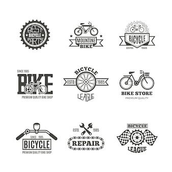Emblemi del negozio di biciclette