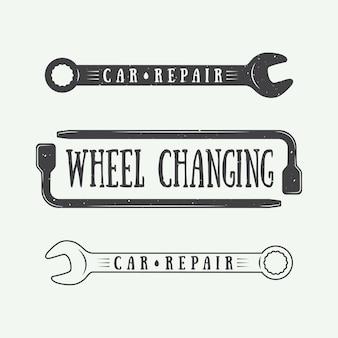 Emblemi di carpenteria e meccanica