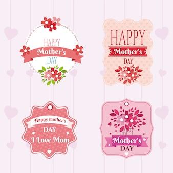 Emblemi di giorno di madri felice