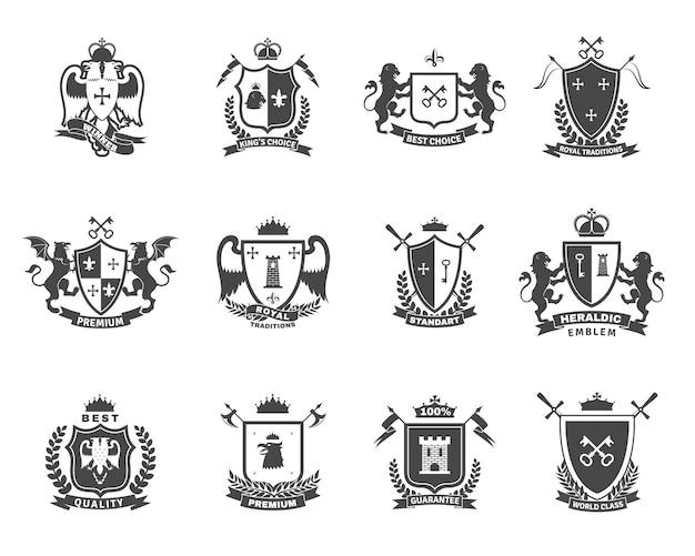 Emblemi di qualità premium araldici