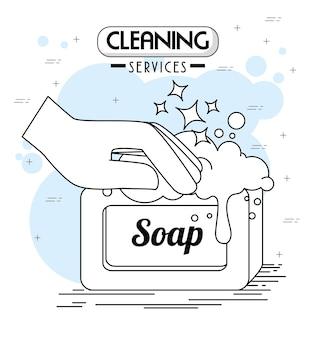 Emblemi e loghi di servizi di pulizia