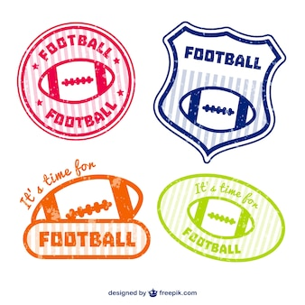 Emblemi football americano set
