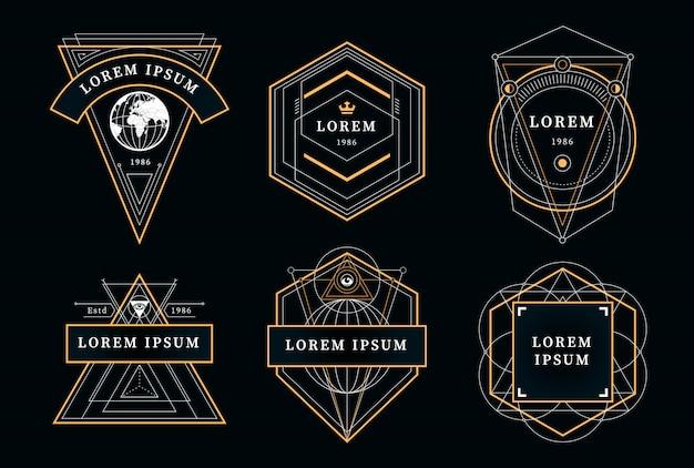 Emblemi geometrici vintage