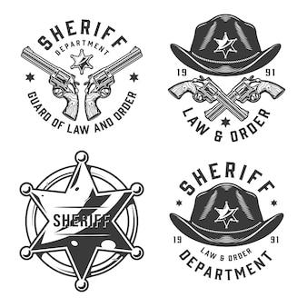 Emblemi vintage monocromatici