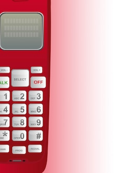 Emergenza telefono rosso con illustrazione vettoriale di spazio copia
