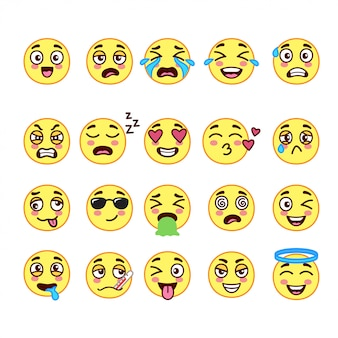 Emoji carino doodle