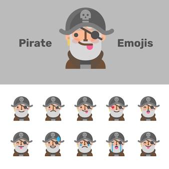 Emoji dei pirati di halloween