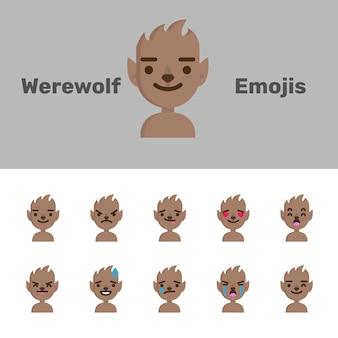 Emoji lupo mannaro di halloween