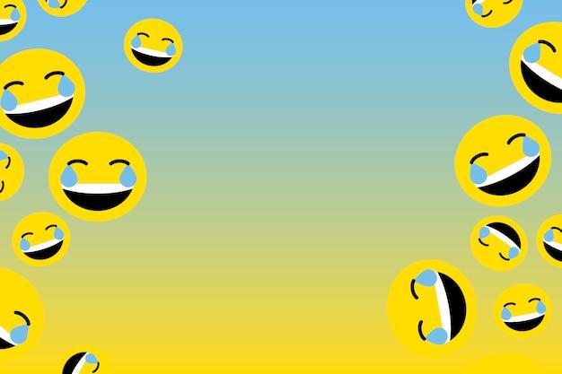 Emoji ridenti galleggianti
