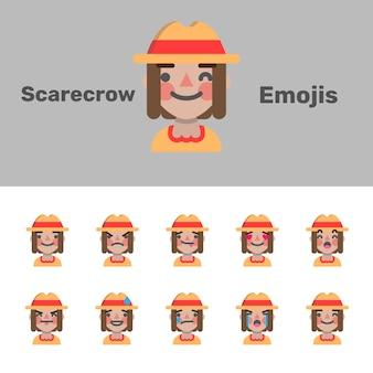 Emoji spaventapasseri di halloween