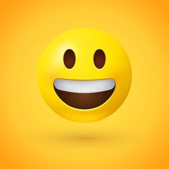 Emoji viso ghignante con sorriso che mostra i denti superiori