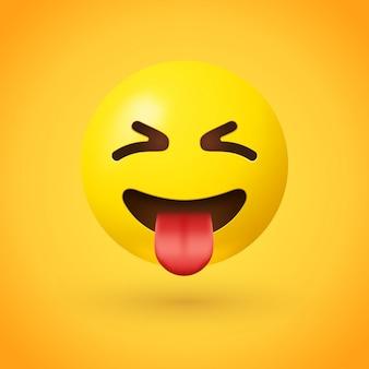 Emoji viso strabico con lingua