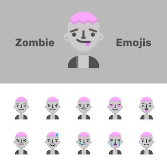 Emoji zombie di halloween